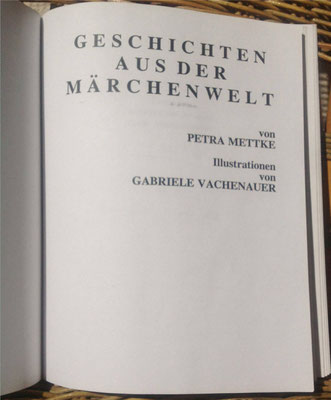 Petra Mettke/Geschichten aus der Märchenwelt/Buch von 1992/Deckblatt
