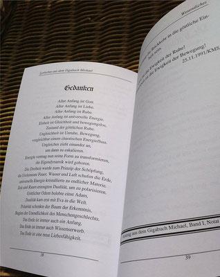 Karin Mettke-Schröder/Wesentliches/Lyrisches aus dem Gigabuch Michael/Druckheft von 2002/Seite 38-39