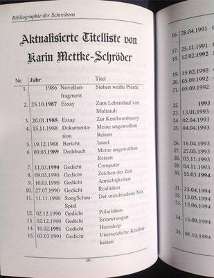 Petra Mettke, Karin Mettke-Schröder/Bibliographie Almanach/2005/Seite 30