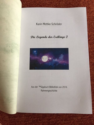 Karin Mettke-Schröder/Die Legende der Erdlinge 2/Deckblatt