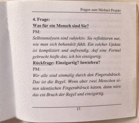 Petra Mettke/Interview über das Gigabuch Michael/Nanobook Nr. 6/2002/Seite 15