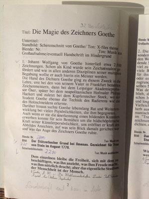 Petra Mettke, Karin Mettke-Schröder/Die Magie des Zeichners Goethe/Drehbuch/1999/Seite 2