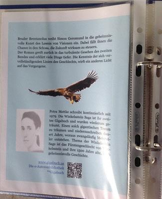 Petra Mettke/Gigabuch Winkelsstein 04/Das Buch des Schicksals/Druckskript 2011/Einbandentwurf Rückseite