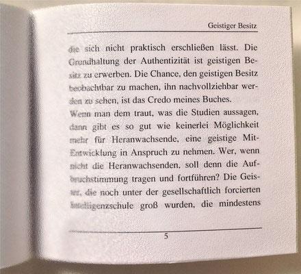 Karin Mettke-Schröder/Geistiger Besitz/Thesen zum Gigabuch Michael/Nanobook Nr. 8/2005/Seite 5
