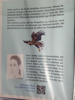 Petra Mettke/Gigabuch Winkelsstein 05/Am Rande der Unerklärlichkeit/Druckskript 2011/Einbandentwurf Rückseite