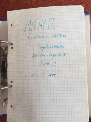 Petra Mettke/Gigabuch Michael 12/Originalordner/1995/ Deckblatt