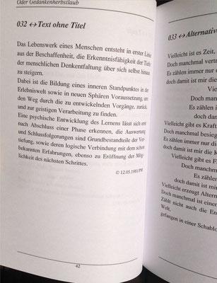 Karin Mettke-Schröder, Petra Mettke/Denkentblätterung/Gedichtband/Druckskript von 2003/Seite 42