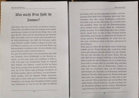 Petra Mettke/Märchenstaub/Märchenbuch 3/Druckheft von 2006/ ungebundene Seite 48-49