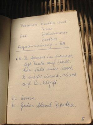 Petra Mettke/Der Käse/Lustspiel von 1984 im Originalbuch/Seite 5