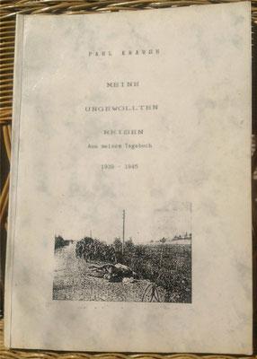 Karin Mettke-Schröder, Petra Mettke/Druckskript von 1987/Paul Krause/Kriegstagebuch/Einband
