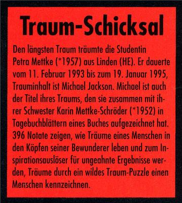 Petra Mettke, Karin Mettke-Schröder/Gigabuch Michael /Guinness Rekord Eintrag/1996