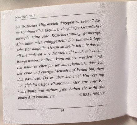 Petra Mettke/Interview über das Gigabuch Michael/Nanobook Nr. 6/2002/Seite 14