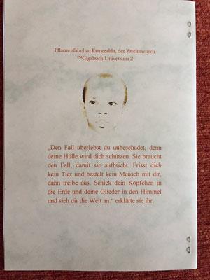Karin Mettke-Schröder/Die auserwählte Kastanie/™Gigabuch Universum Band 2/Coverrückseite