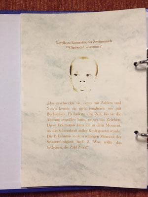 Karin Mettke-Schröder/™Gigabuch Universum Band 2/Du hast doch eine Seele, Esmeralda/Novelle/Rückcover