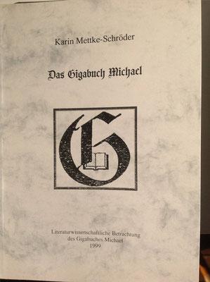 Karin Mettke-Schröder/Das Gigabuch Michael/Broschürefassung von 2003/Einband