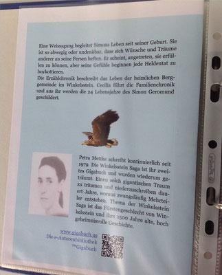 Petra Mettke/Gigabuch Winkelsstein 03/Der Kern der Dynastie/Druckskript 2011/Einbandentwurf Rückseite