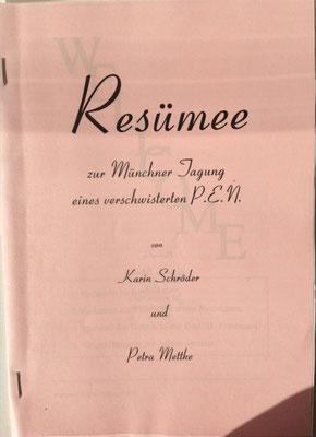 Karin Schröder, Petra Mettke/Resümee-PEN Heft 1/1998/Originaleinband