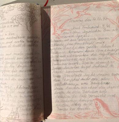Petra Mettke/Reisetagebuch/Syrien und Jordanien/Handschrift/04.10.1992