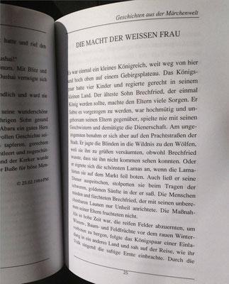 Petra Mettke/Geschichten aus der Märchenwelt/Märchenbuch 1/Druckheft von 2002/Die Macht der weißen Frau/Seite 25