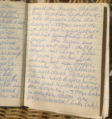 Karin Mettke-Schröder/originales Reisetagebuch Israel von 1988/folgende Seite