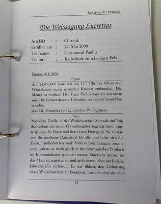 Petra Mettke/Gigabuch Winkelsstein 03/Der Kern der Dynastie/Druckskript 2011/Seite 11