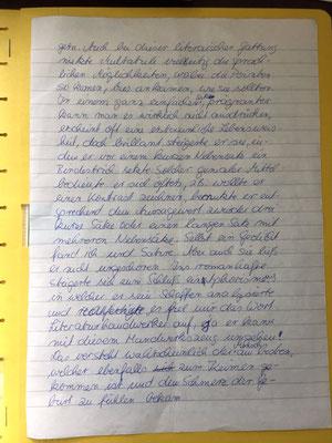 Karin Mettke-Schröder, Petra Mettke/Tagebuch der Filme, Seite 1