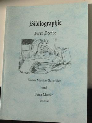 Petra Mettke, Karin Mettke-Schröder/Bibliographie first decade/2003/Einband