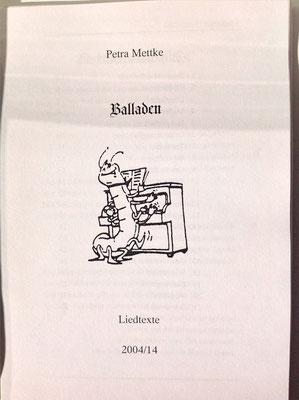Petra Mettke/Balladen/Liedtexte/Druckskript/2005/Deckblatt