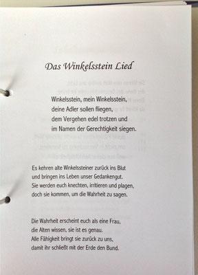 Petra Mettke/Gigabuch Winkelsstein 02/Das evolutionäre Guthaben/Druckskript 2010/Winkelsstein Lied
