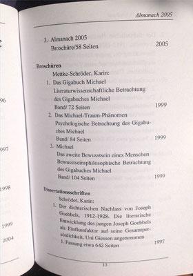 Petra Mettke, Karin Mettke-Schröder/Bibliographie Almanach/2005/Seite 13