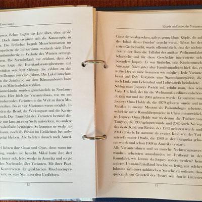Karin Mettke-Schröder und Petra Mettke/Das Diary aus Oxada und Eybo, die Varianten ™Gigabuch Universum Band 1/ 2016/Seite 12-13