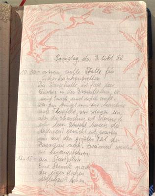 Petra Mettke/Reisetagebuch/Syrien und Jordanien/Handschrift /03.10.1992