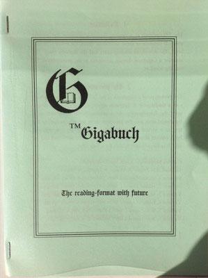 Karin Mettke-Schröder, Petra Mettke/Trademark Gigabuch (engl.)/Prospekt 4/2007/Einband