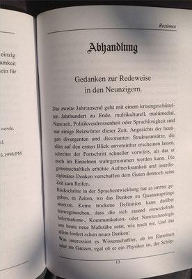 Karin Schröder, Petra Mettke/Resümee-PEN Heft 1/1998/Seite 13