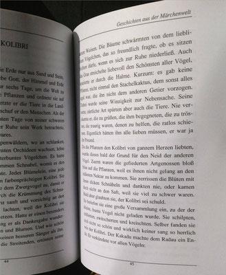 Petra Mettke/Geschichten aus der Märchenwelt/Märchenbuch 1/Druckheft von 2002/Der Kolibri/Seite 45