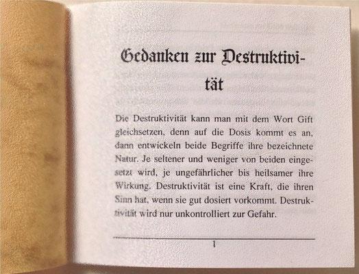Karin Mettke-Schröder, Petra Mettke/Gedanken zur Destruktivität/Nanobook Nr. 5/2003/Seite 1