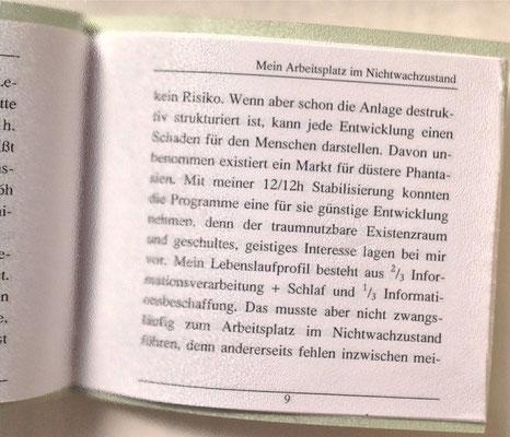 Petra Mettke/Nichtwachzustand/Thesen zum Gigabuch Michael/Nanobook Nr. 7/2003/Seite 9