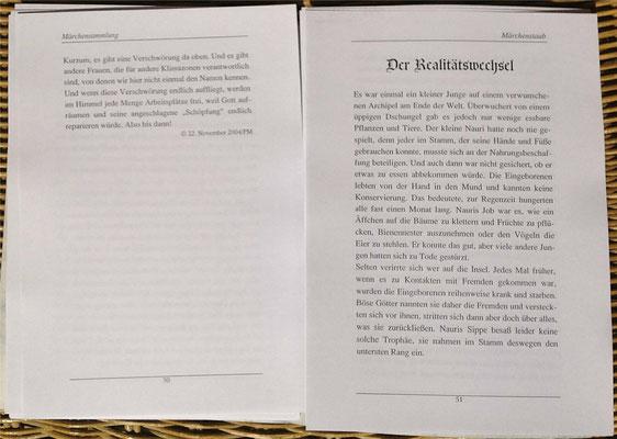 Petra Mettke/Märchenstaub/Märchenbuch 3/Druckheft von 2006/ ungebundene Seite 50-51