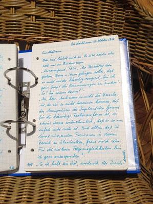 Petra Mettke/Gigabuch Michael 07/Originalordner/1994/Notat 302 auf Seite 169