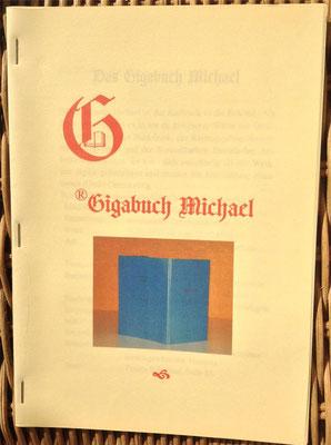 Karin Mettke-Schröder, Petra Mettke/Das Gigabuch Michael - Leseformat/Prospekt 1/2003/Einband