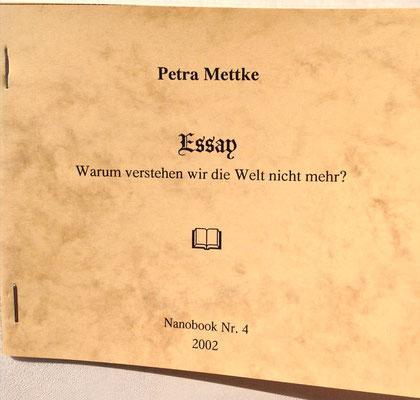 Petra Mettke/Essay über das Gigabuch Michael/Nanobook Nr. 4/2002/Einband