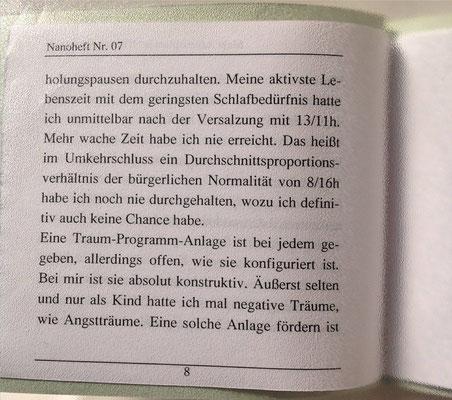 Petra Mettke/Nichtwachzustand/Thesen zum Gigabuch Michael/Nanobook Nr. 7/2003/Seite 8