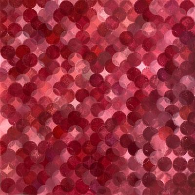 peindre avec des ronds - 70x70