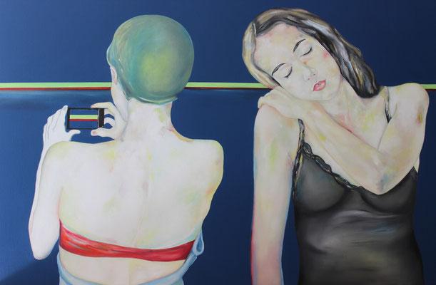 le rayon vert - 150x100 - peinture a huile