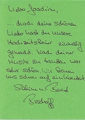 Hochzeitsfeier Sabine und Bernd im Taubenhof