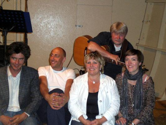 Stade auf der Greundiek - mit den anderen Künstlern des Abends