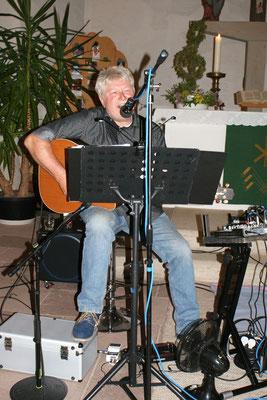 Kirche Bülkau Juni mit Freund Klaus