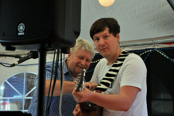 Kulturwoche Jork August - mit Sohn Benjamin