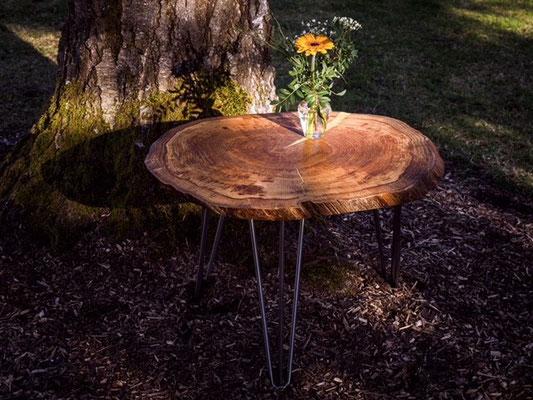 Massivholz kleiner Tisch