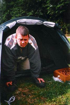 ...oder im Zelt!
